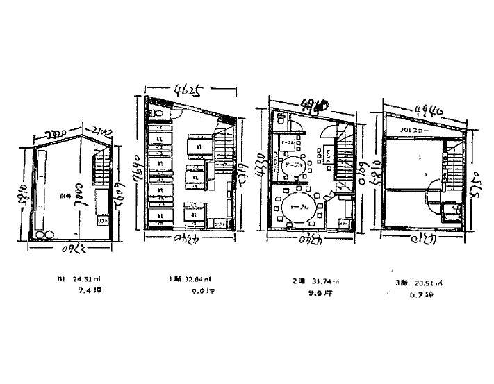 B1厨房、1~2階客席、3階住居仕様の1棟貸し路面店舗!中華料理店居抜き☆イメージ画像1